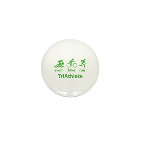 Swim Bike Run TriAthlete Mini Button (10 pack)