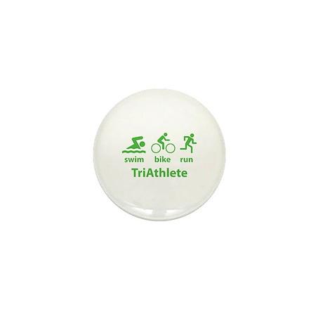 Swim Bike Run TriAthlete Mini Button (100 pack)