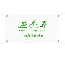 Swim Bike Run TriAthlete Banner