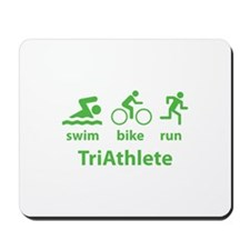 Swim Bike Run TriAthlete Mousepad
