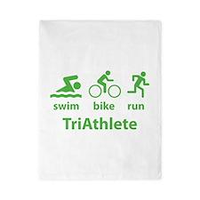 Swim Bike Run TriAthlete Twin Duvet