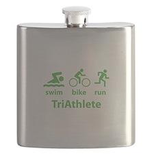 Swim Bike Run TriAthlete Flask