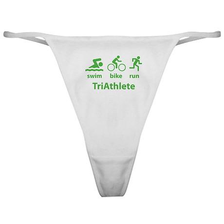 Swim Bike Run TriAthlete Classic Thong