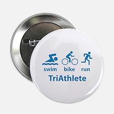 """Swim Bike Run TriAthlete 2.25"""" Button (10 pack)"""