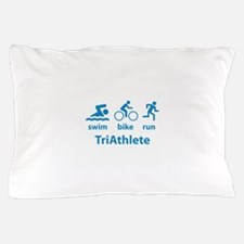 Swim Bike Run TriAthlete Pillow Case