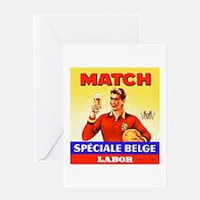 Belgium Beer Label 9 Greeting Card