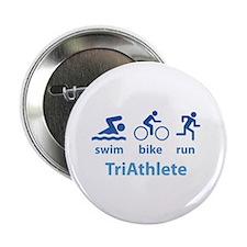 """Swim Bike Run TriAthlete 2.25"""" Button"""