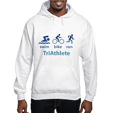Swim Bike Run TriAthlete Hoodie