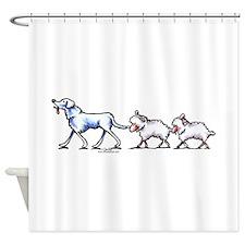 Akbash Dog n Sheep Shower Curtain