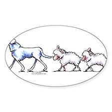 Akbash Dog n Sheep Decal