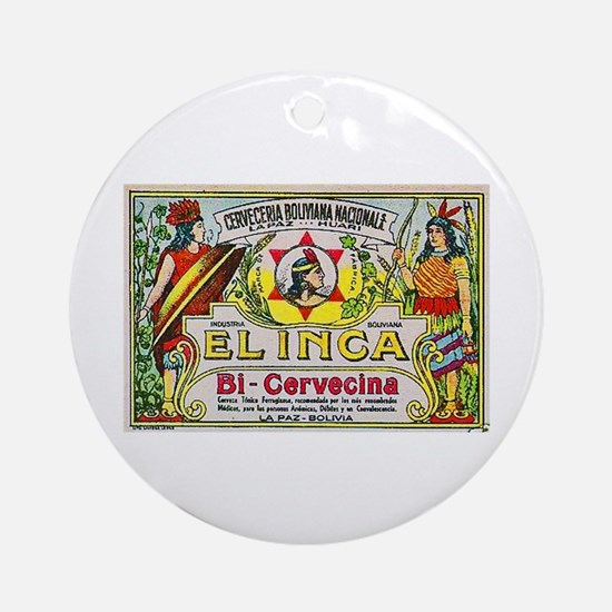 Bolivia Beer Label 3 Ornament (Round)