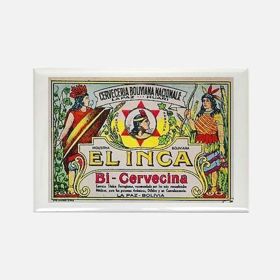 Bolivia Beer Label 3 Rectangle Magnet