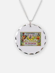 Bolivia Beer Label 3 Necklace