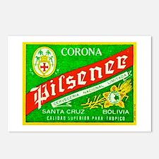 Bolivia Beer Label 2 Postcards (Package of 8)