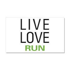 Live Love Run Car Magnet 20 x 12