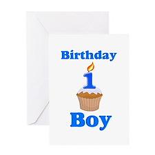 1 year old Birthday boy Greeting Card
