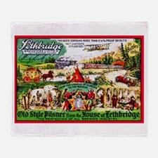 Canada Beer Label 15 Throw Blanket