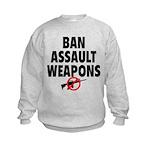 BAN ASSAULT WEAPONS Kids Sweatshirt