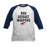 BAN ASSAULT WEAPONS Kids Baseball Jersey