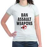 BAN ASSAULT WEAPONS Jr. Ringer T-Shirt