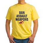 BAN ASSAULT WEAPONS Yellow T-Shirt