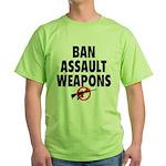 BAN ASSAULT WEAPONS Green T-Shirt