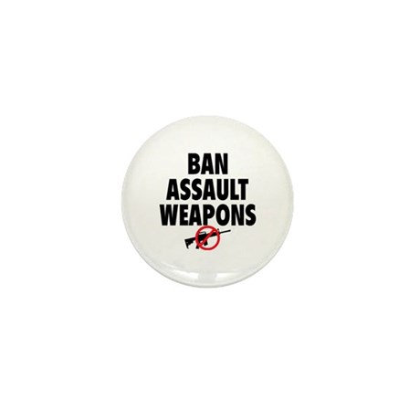BAN ASSAULT WEAPONS Mini Button (100 pack)