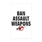 BAN ASSAULT WEAPONS Sticker (Rectangle 50 pk)