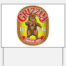Canada Beer Label 14 Yard Sign