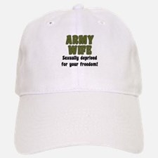Army Wife - deprived Baseball Baseball Cap