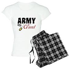 Army Aunt Dog Tags Pajamas