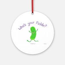 Pickle Ornament (Round)