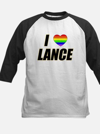 I heart Lance Kids Baseball Jersey