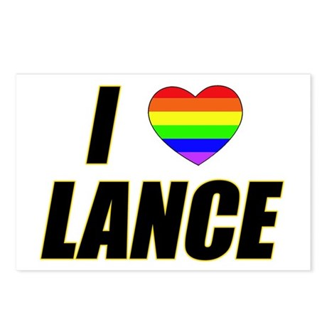 I heart Lance Postcards (Package of 8)