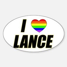 I heart Lance Oval Decal