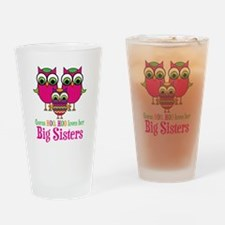 Little Sis Big Sisters Drinking Glass
