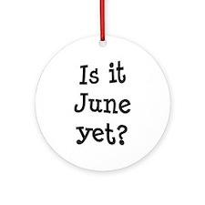 Is It June Yet School Ornament (Round)