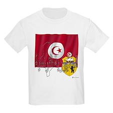 Silky Flag Tunisia/Arab Kids T-Shirt