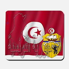 Silky Flag Tunisia/Arab Mousepad