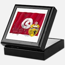 Silky Flag Tunisia/Arab Keepsake Box