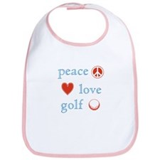 Peace Love Golf Bib