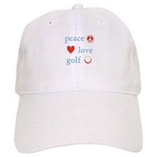 Peace Love Golf Baseball Cap