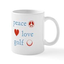 Peace Love Golf Mug