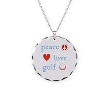 Peace Love Golf Necklace