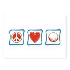 Peace Love Golf Postcards (Package of 8)