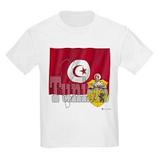 Silky Flag of Tunisia Kids T-Shirt