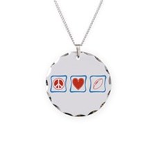 Peace Love Football Necklace