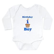 1 year old Birthday boy Long Sleeve Infant Bodysui