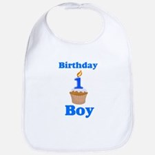 1 year old Birthday boy Bib