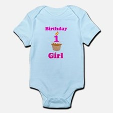 1 year old Birthday girl Infant Bodysuit